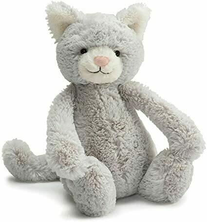 """Jellycat Bashful Grey Kitten Small 7"""""""