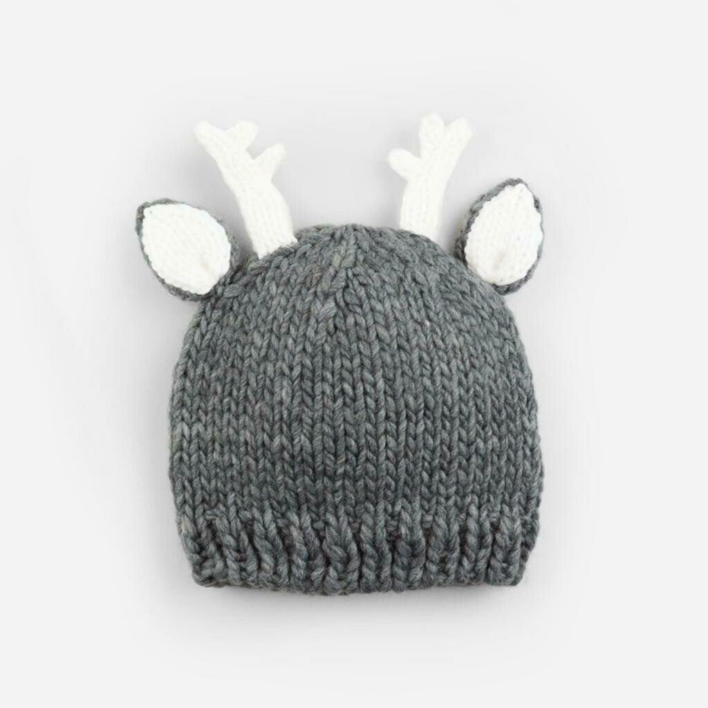 The Blueberry Hill Hartley Deer Hat 12-24M