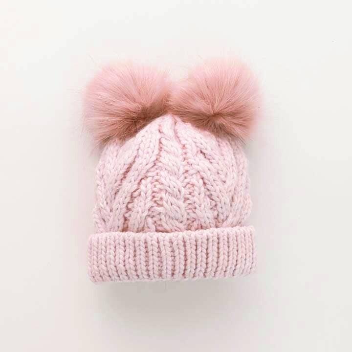 Blush Pink Fluffer Beanie