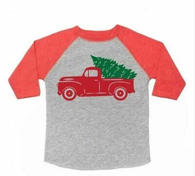 Sweet WInk Christmas Truck L/S Shirt
