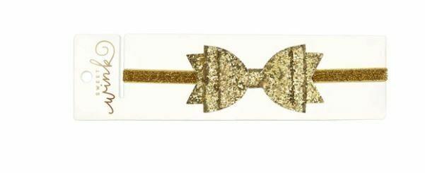 Sweet Wink Gold Glitter Bow