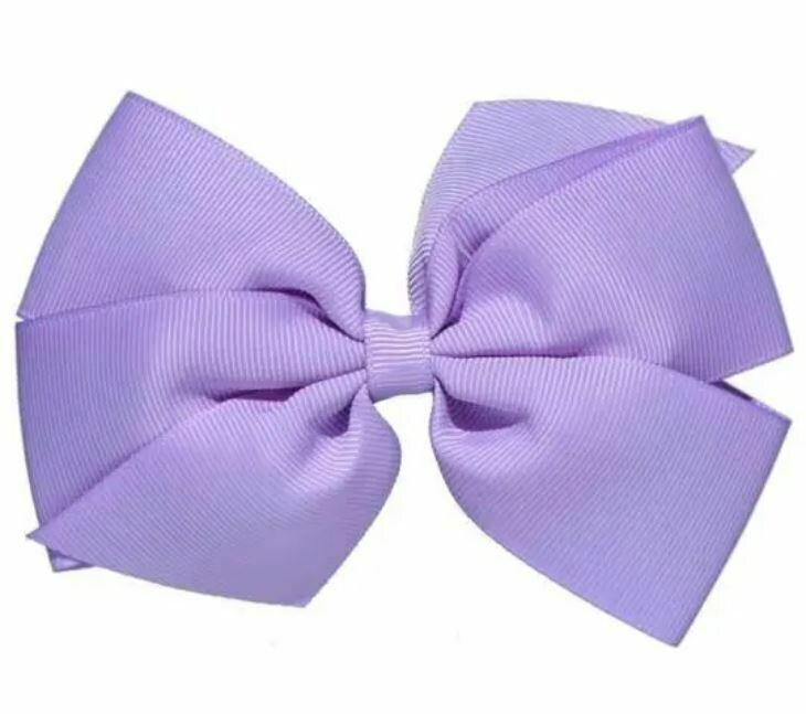 "Whitney Queen Grosgrain Bow Lavender 5"""