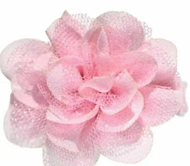 Lillian Small Sparkle Flower Hair Clip Bubblegum