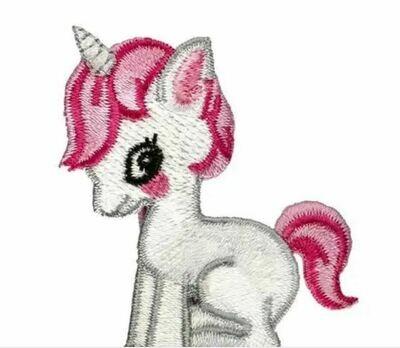Bella Baby Unicorn Hair Clip Shocking Pink