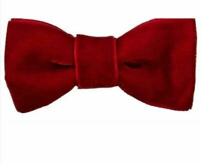 Sadie Velvet Bow Red