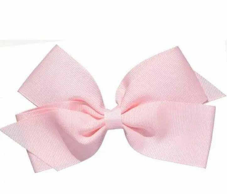 "Whitney Queen Grosgrain Bow Pink 5"""
