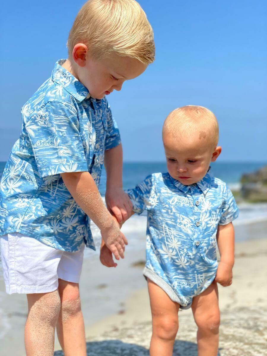 Me & Henry Helford S/S Onesie Surfer HB621k