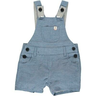 Me & Henry Bowline Short Overall Chambray HB602c