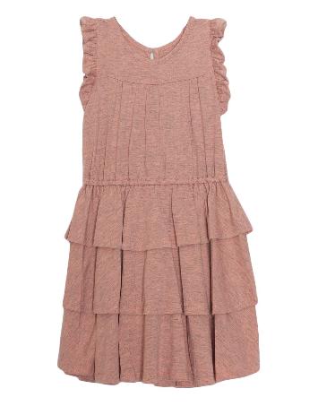Isobella & Chloe Pink Tiered Ruffle Dress 569CL