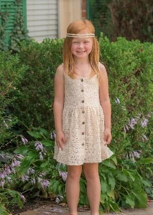 Mabel & Honey Ivory Lace Knit Dress K823