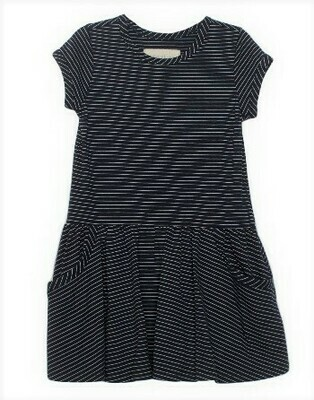 Mabel & Honey Nvy Blue Knit pocket Dress K726