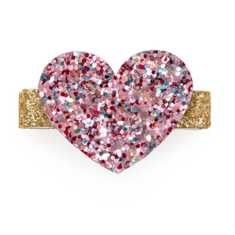 Sweet Wink Confetti Heart Clip
