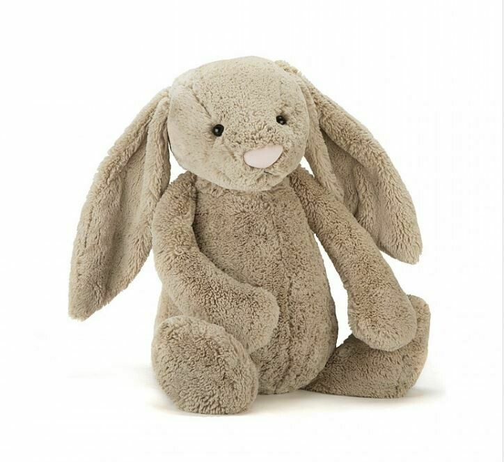 """JellyCat Bashful Beige Bunny Huge 21"""""""
