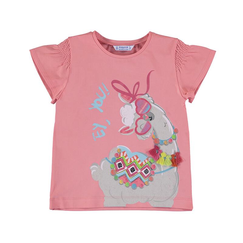 Mayoral Girls Llama S/S T-Shirt 3019