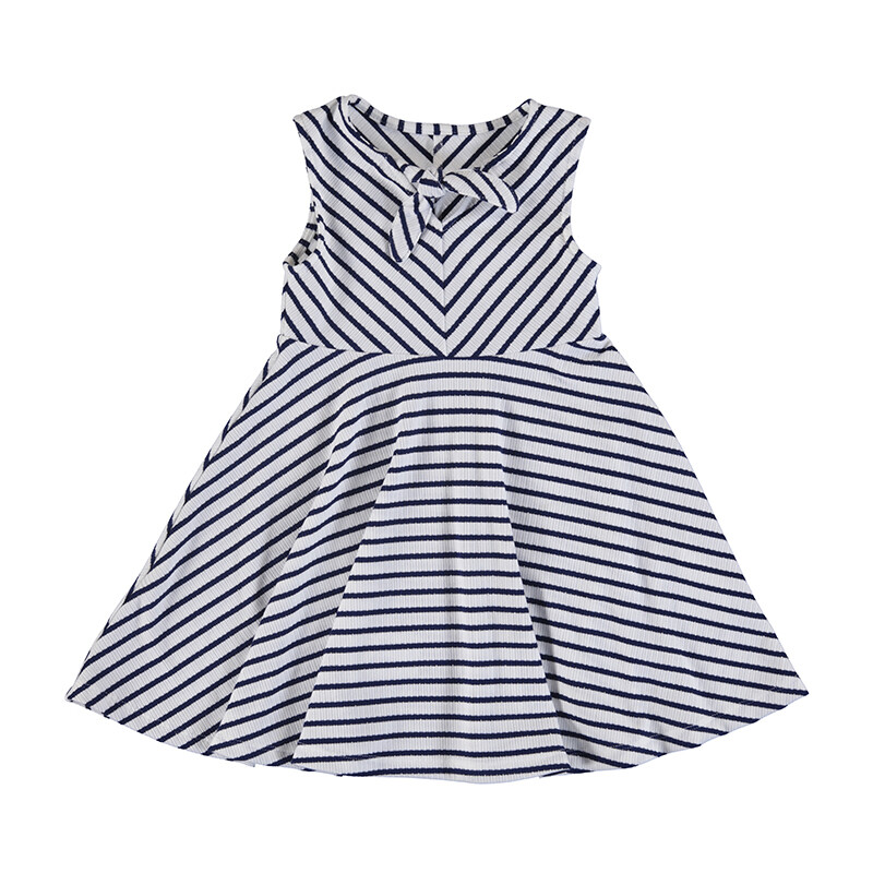 Mayoral Girls Dress Ink Stripe 3938