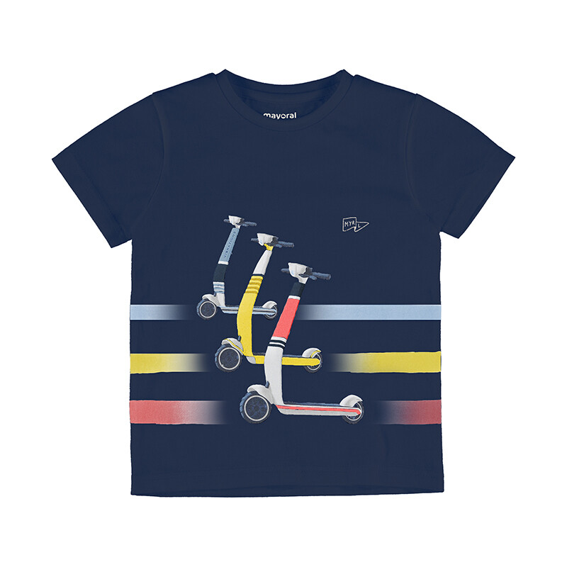 Mayoral Baby Boys Navy S/S Skater T-Shirt 3037