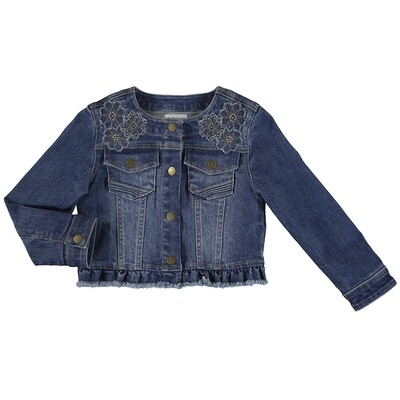 Mayoral Girls Medium Applique' Jacket 3478