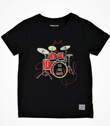 Mayoral Boys Vynil S/S Drums T-Shirt  3050