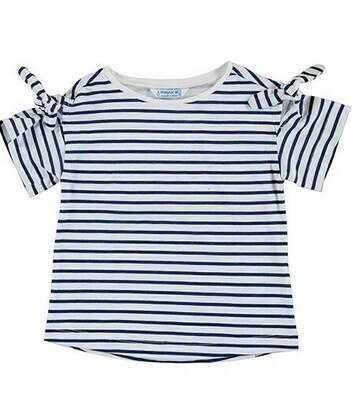 Mayoral Girls S/S T-Shirt (Ink Stripe 3009