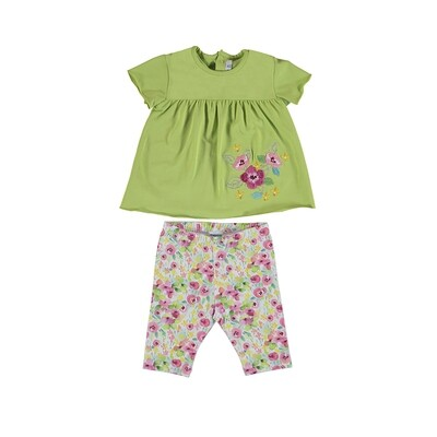 Mayoral Baby Girl Top/Leggings Set Pistachio 1718