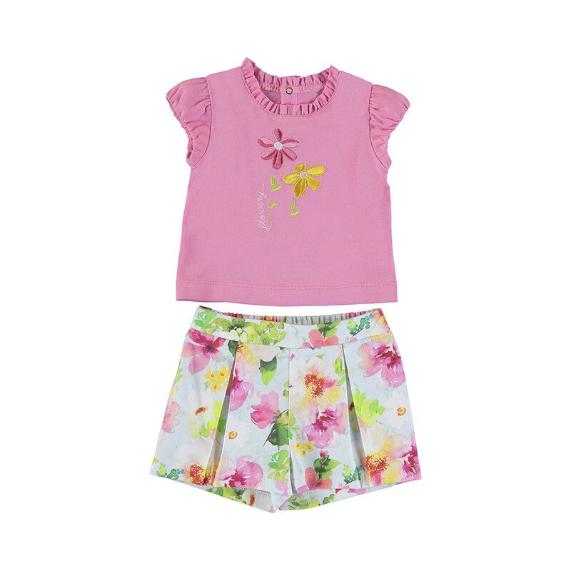 Mayoral Baby Girl Pistachio Short Set 1234