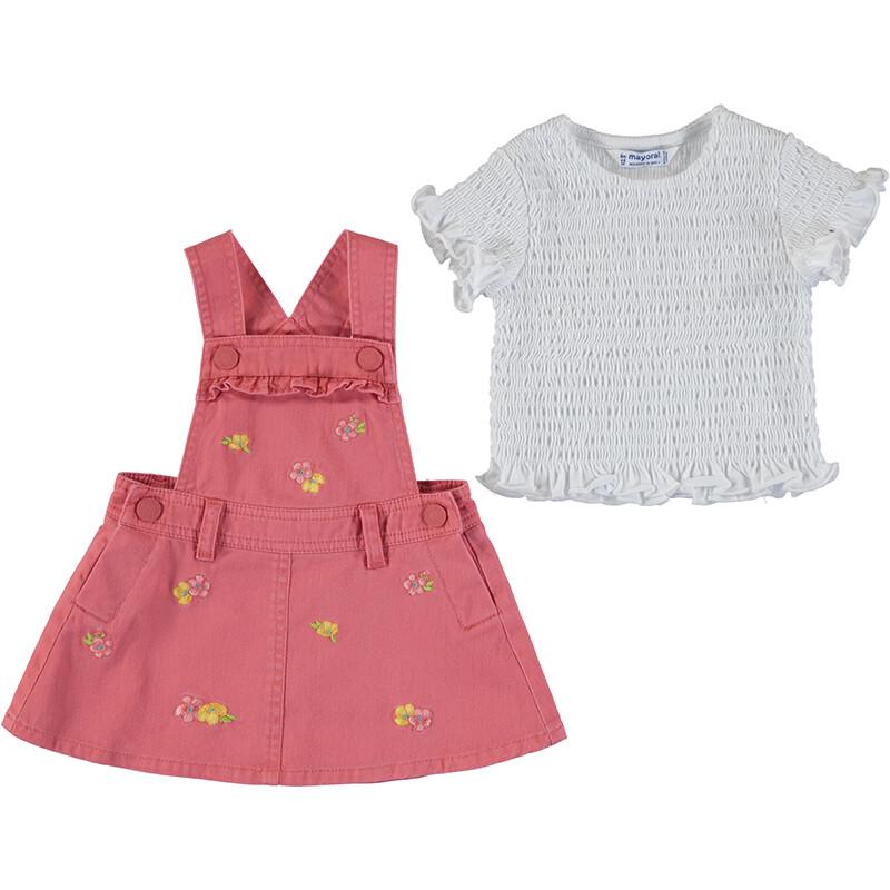 Mayoral Baby Girl Coral Skirt & Top Set 1659