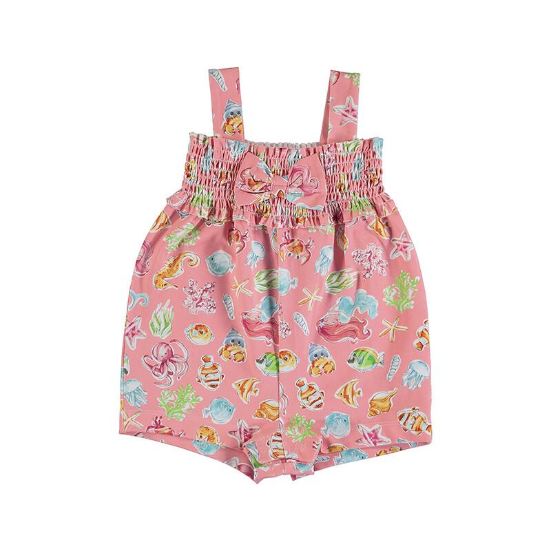 Mayoral Baby Girls Flamingo Jumpsuit 1842