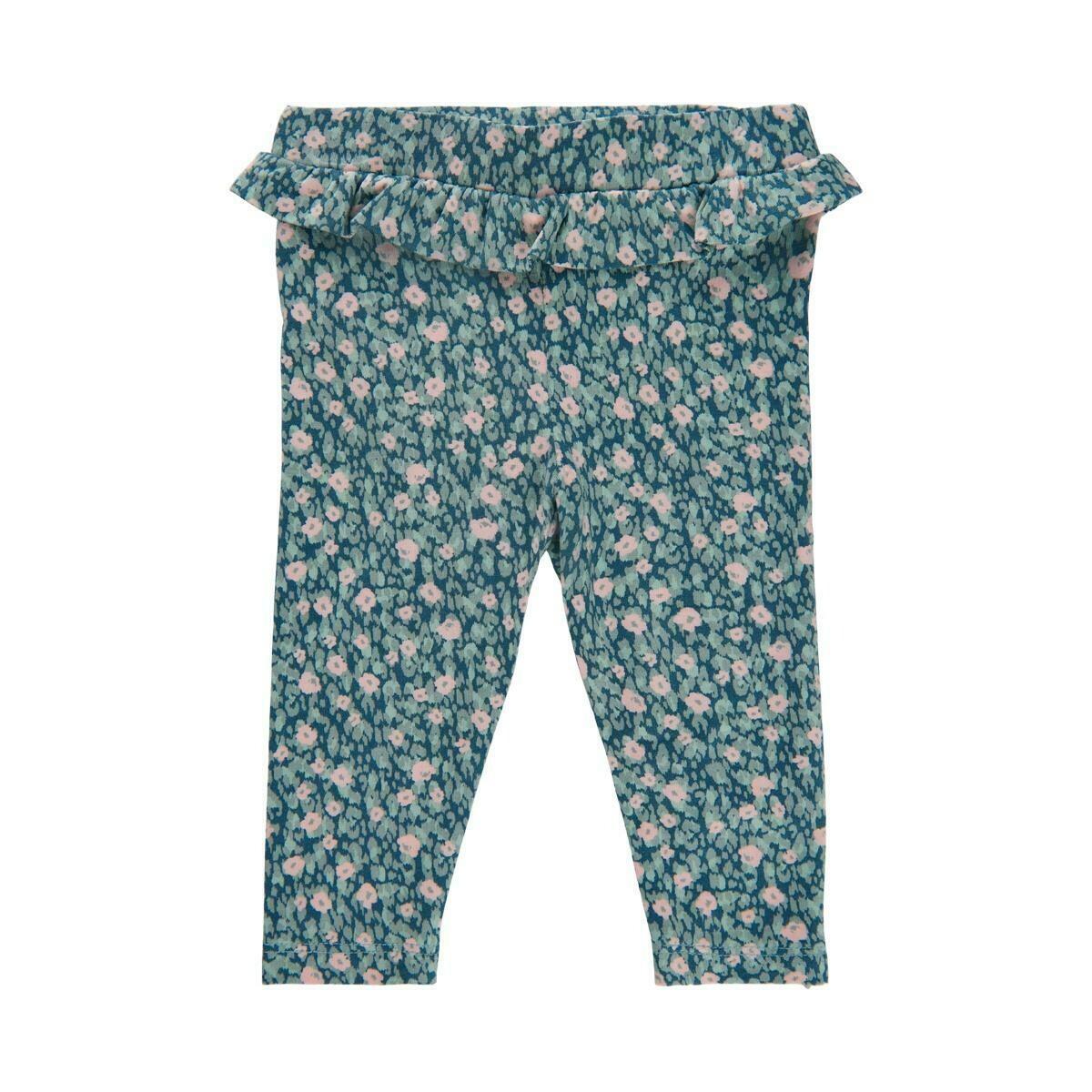 Minymo-Blue Surf Floral Leggings 1452