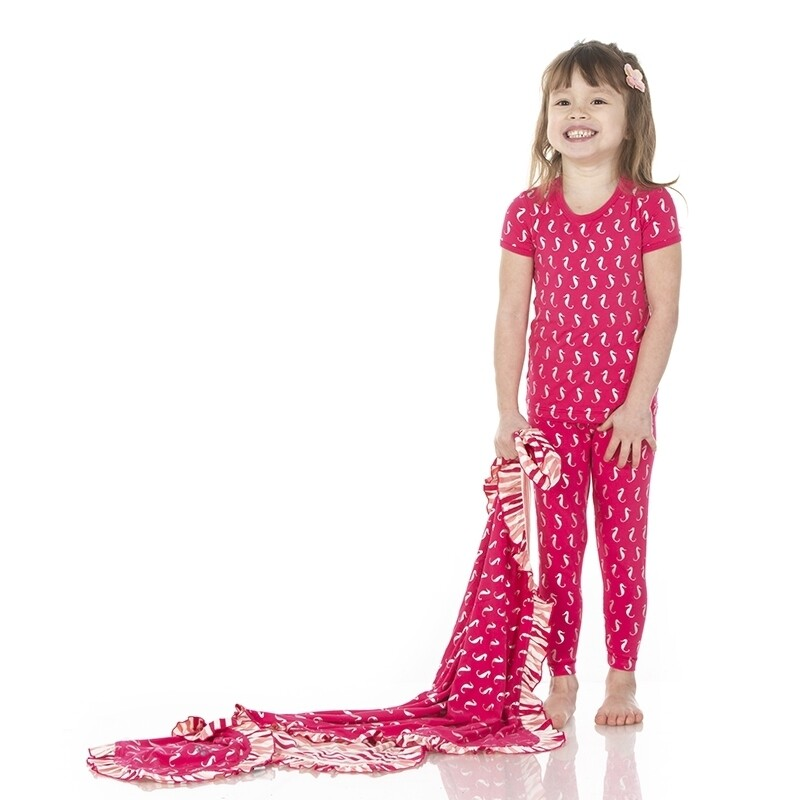 Kickee S/S Pj's Set Prickly Pear Mini Seahorses
