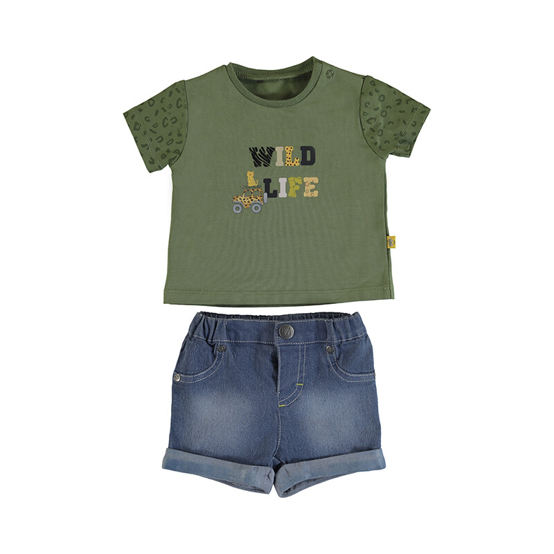 Mayoral Khaki Denim Shorts Set 1219