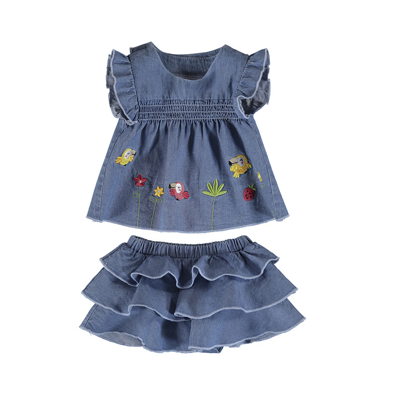 Mayoral Baby Girls Blouse w/Ruffle Skirt Set 1208