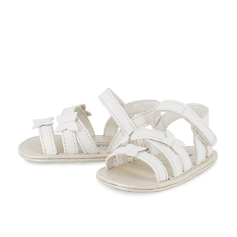 Mayoral Baby Girls Butterfly White Sandals 9408