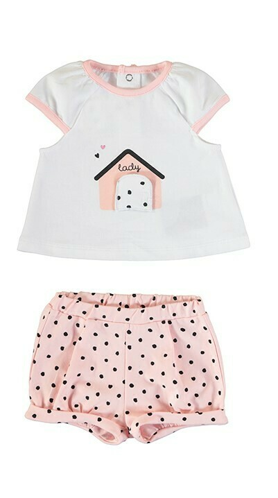 Mayoral Baby Girls 2pc Blush Short Set 1649
