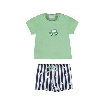 Mayoral Boys Bathing Suit w/T-Shirt Mint 1652