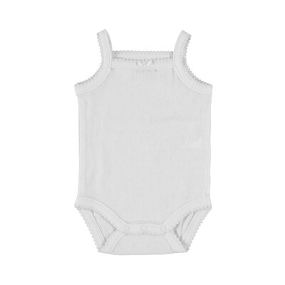Mayoral Baby Girls Bodysuit w/Straps White 168