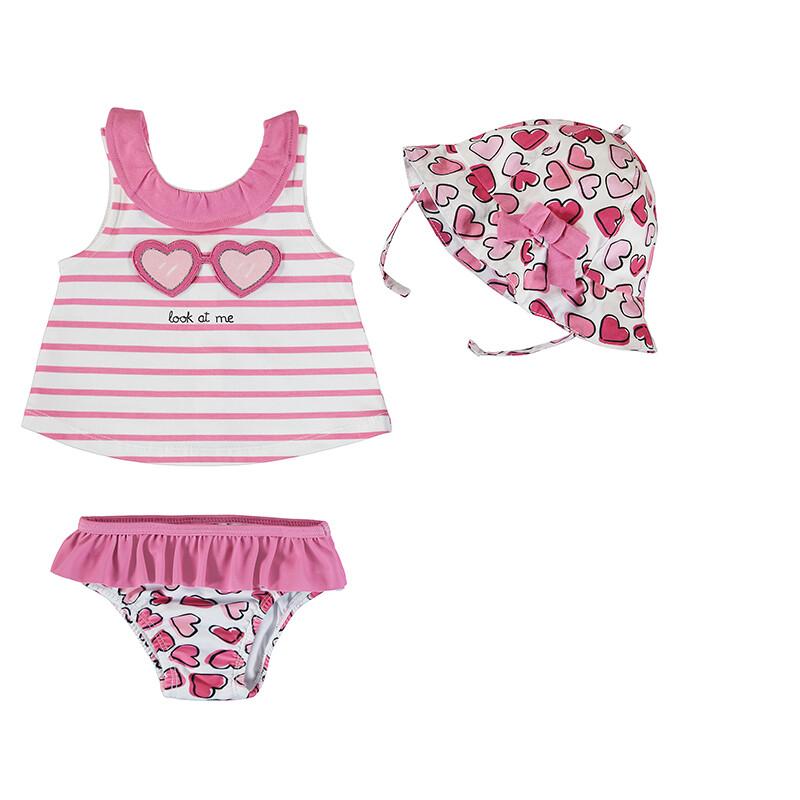 Mayoral Pink Bathsuit Set w/Hat  1618