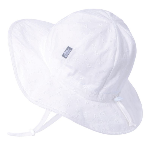 Jan & Jul Cotton Floppy Hat- White Eyelet