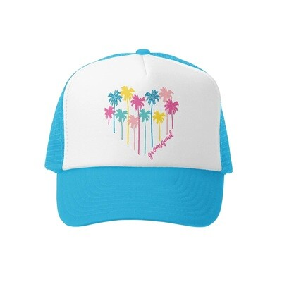 Grom Squad Hat Palm Heart-Turquoise