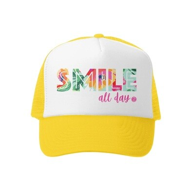 Grom Squad Hat Smile All Day-Yellow