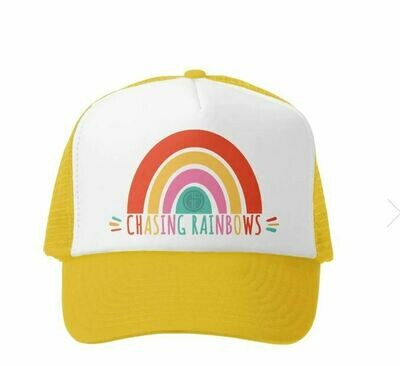 Grom Squad Hat Chasing Rainbows-Yellow