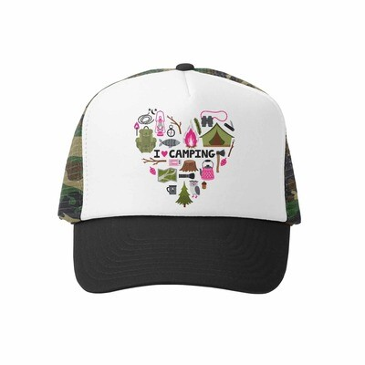 Grom Squad Hat I Love Camping-Camo