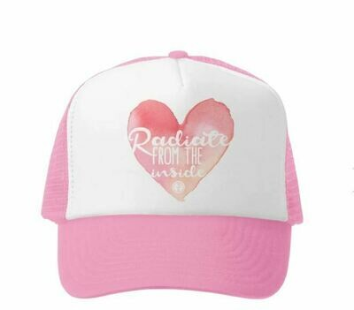 Grom Squad Hat Radiate From The Inside-Pink