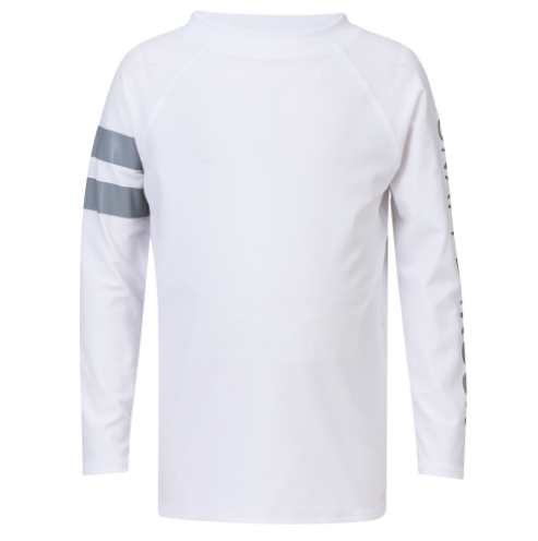 Snapper Rock White Arm Band L/S Rash Top