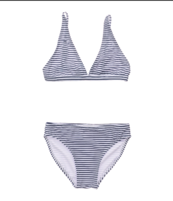 Snapper Rock Navy White Stripe Bra Style Bikini