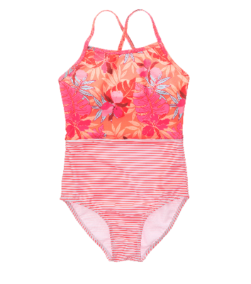 Snapper Rock Tropical Punch Crossback Swimsuit