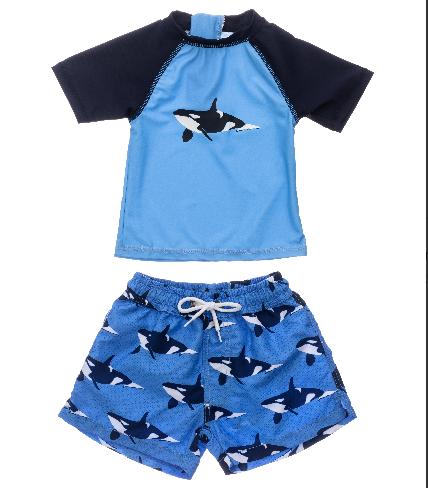 Snapper Rock Orca Ocean Baby SS Set