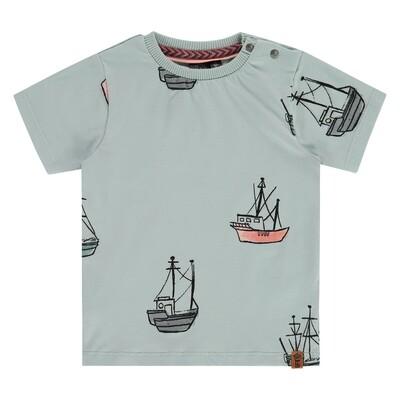 Babyface Boys Grey Mint ss T-Shirt 7655