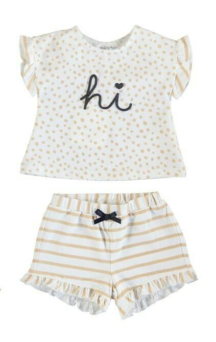 Mayoral Baby Girl Mocha Knit Set 1620