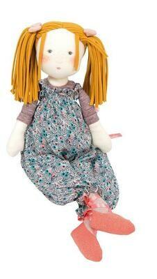"Moulin Roty Violette Rag Doll 17.5"""