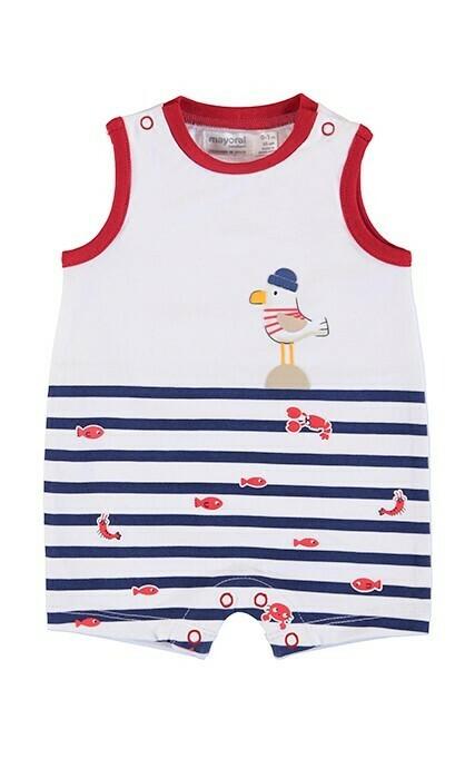 Mayoral Baby Boy Navy Stripe Onesie 1651